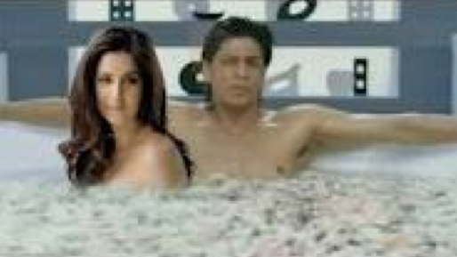 SRK and Katrina Bollywood's hottest stars in a bathtub