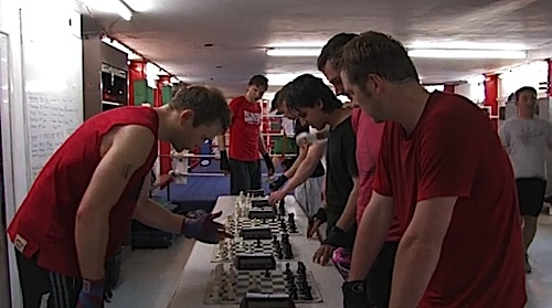 In a scene from the forthcoming documentary, Chessboxing: A King's Discipline, audiences get a view to the gruelling training involved in this challenging sport.